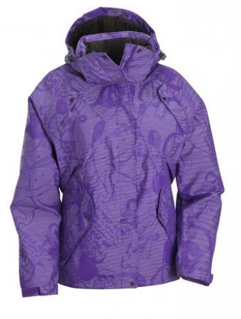 salomon exposure jacket purple w